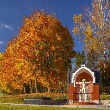 Liczne przydrożne kapliczki Warmińskie w Worytach